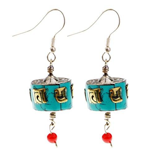 Baoblaze Modische Schmuck Tibet Nepal Stil Ohrringe Ohrhänger für Frauen