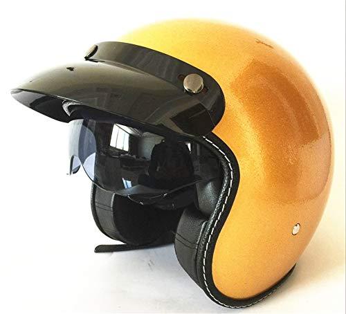 YOVYO Casco Motorcycle Half -Helmet Harley Open Face 3/4