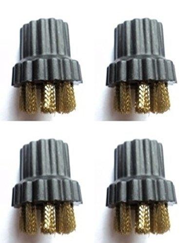 10 X LAVAPAVIMENTI A VAPORE UNIVERSALE ROUND GRANDE Nylon Setola Pennello Testa Ugello