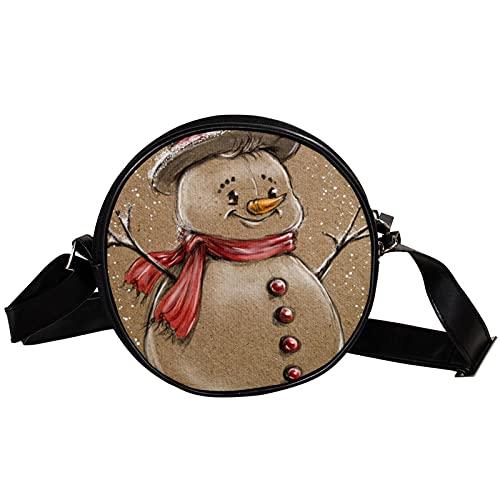 Staroutah Bolso Bandolera,Bolsos Cruzados con Carga Bolso de Pecho Impermeable para Viajes Trabajo Escolar Senderismo Pecho Bolsa Muñecos de nieve retro lindos de Navidad