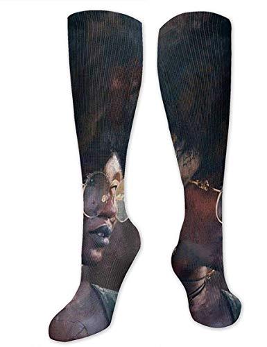NA Calcetines casuales para hombre y mujer, a la rodilla, mediados de pantorrilla, calcetines para disfraz de cosplay, calcetines de moda afroamericana, modernos, abstractos, estilo pop art pop art