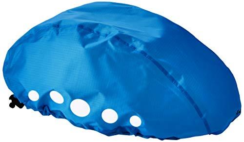 Playshoes Kinder-Unisex wasserdichter Regenüberzug, Regenschutz für Fahrradhelme Regenhut, Blau, S