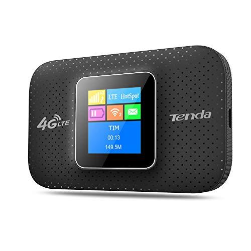 Tenda 4G185 Mobile Router Hotspot Portatile, Router 4G, WiFi da 150 MBps 4G LTE, Banda Singola (2.4 GHz), Nero