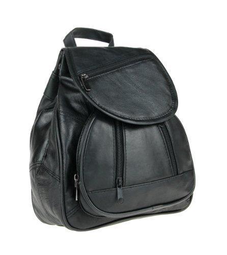 Marc Chantal/Phoenix/Kabana(echt Leder) RuCkSaCk BackPack Body City Bag Schulter Tasche Organizer Tablet 10'' Nexus Samsung Ipad mini (Schwarz Patchleder 30x24x11 cm)