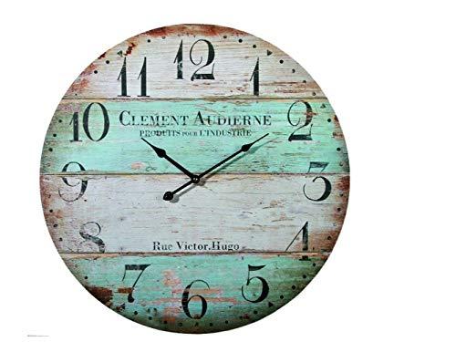 Preis am Stiel Wanduhr ''Clement Audiene'' | Shabby | Vintage Uhr | Groß | Retro | Uhren | für...