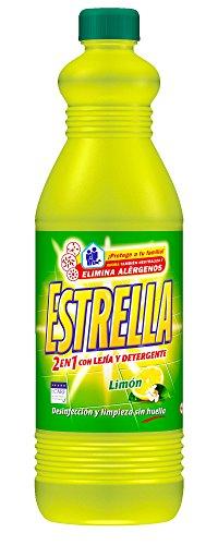 Estrella limpahogar con lejía y detergente limón 1,5L [Pack de 6]