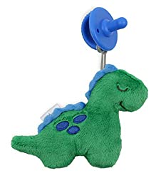 2. Itzy Ritzy Detachable Plush Dinosaur Pacifier and Lovey Set
