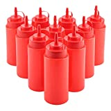 Fdit Bottiglia in plastica da 460 ml per squeeze, dispenser per salsa di pomodori, condime...