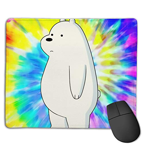 Cute Stand Ice Bear We Bare Gaming Office Mouse Pad with Stitched Edge, Non-Slip Rubber Base Mousepad for Laptop, Computer & Pc