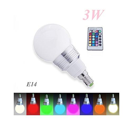 Lampadina a LED RGB cambia colore con telecomando Magie, E14, 3 W, classe energetica: A