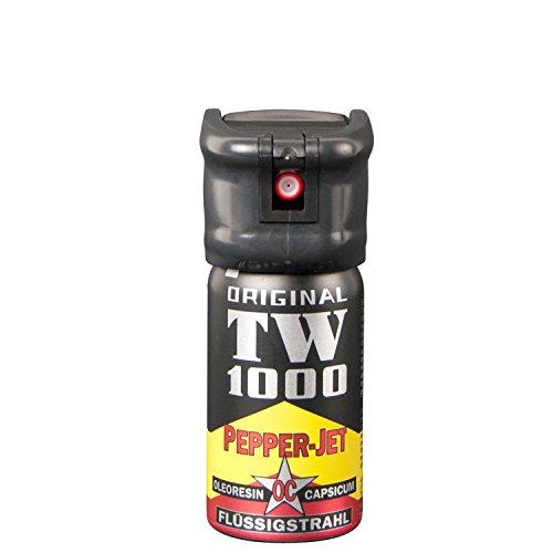 Abwehrspray TW1000 Pfefferspray zielgenauer Strahl, 40 ml