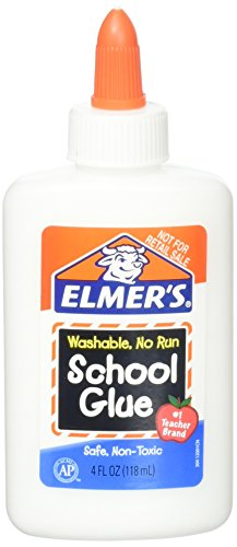 Elmer's Washable No Run School Glue, 4 Ounces, White and Dries Clear