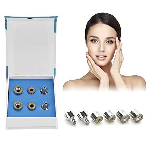 Diamant Machine, Diamant Dermabrasie Accessoire, 6 Stks Vervanging Diamant Tips RVS Filter Set voor Gezichtsschilfering Gezichtsverzorging Salon Schoonheidsgereedschap