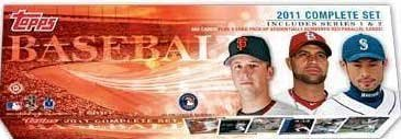 2011 Topps Baseball Factory Sealed Hobby Version Complete Mint 660 Card Series #1 and #2 Set with 5 Bonus Red Parallel Version Cards. In Stock!!