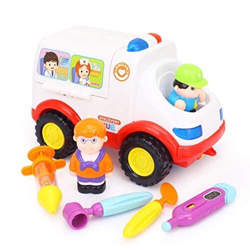 WFF Spielzeug Krankenwagen Spielzeug, Universal-Auto mit Musik und Licht, Kinderspielhaus mit Batterie Medizinischer Geräte Spielzeug-Auto (Color : 1piece)