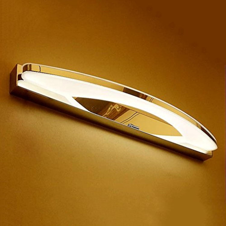 badezimmerlampe Edelstahl Led Mirror Front Lights, wasserdicht Anti-Fog Acryl Schminklicht (gre   9w 41cm)