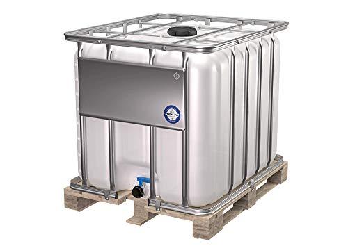 800L IBC-Container, Wassertank, Regentonne - Holzpalette