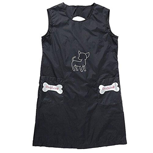 Amorar Wasserdichte Pet Grooming Schürze mit Taschen, antistatische Hund Katze Professional Nylon Kittel für Frauen Männer,EINWEG Verpackung