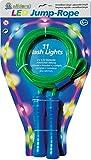 alldoro 63021 - Cuerda de saltar con 11 luces LED para niños a partir de 6 años y adultos, color verde