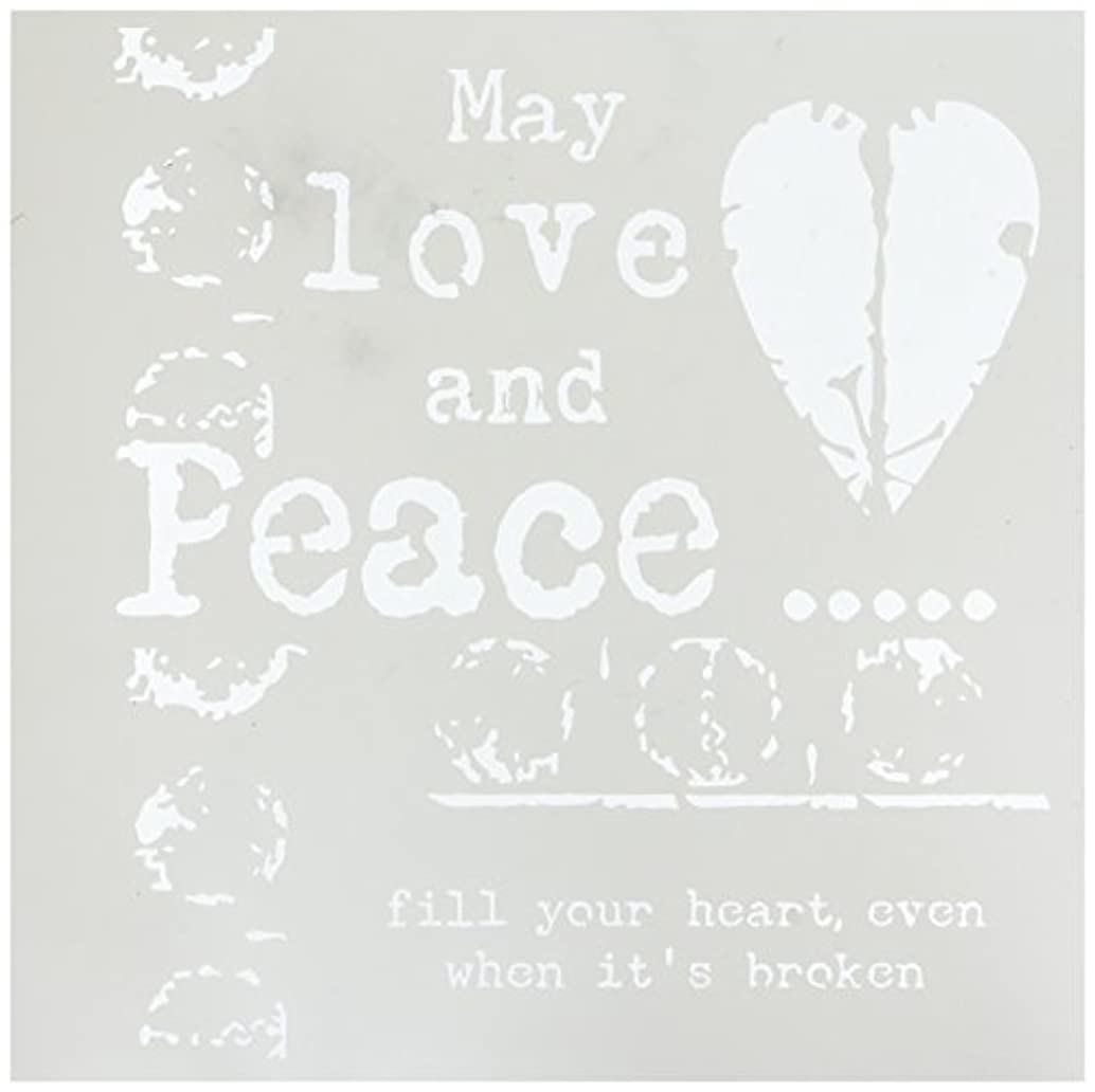 CRAFTERS WORKSHOP Love & Peace Template, 12 by 12