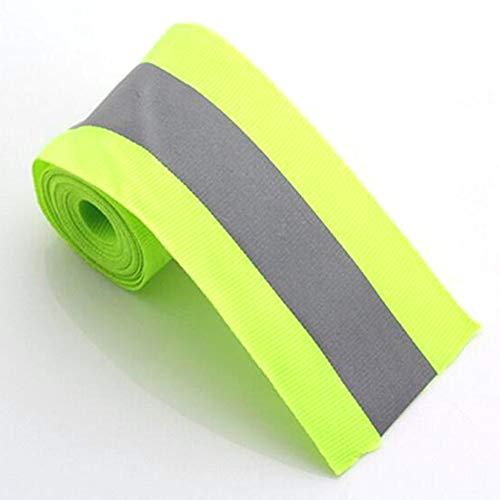 Cinta reflectante de advertencia para coser ropa de seguridad de equipaje fluorescente (verde)