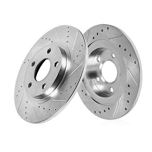 Callahan CDS05170 REAR 281.2mm Drilled/Slotted 5 Lug [2] Rotors [ fit Lexus NX200t NX300 NX300h Toyota C-HR ]