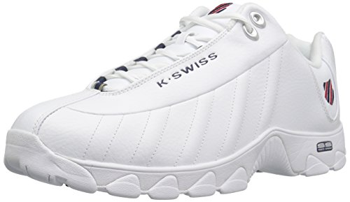 K-Swiss Men's st-329 Fashion Sneaker, White/Navy/Red, 8 XW...
