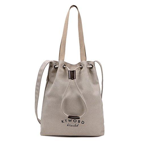 BYD - Donna School Bag Borse Tote Bag Travel Bag secchiello Bag Canvas Bag Borse a mano Borse a spalla Shopping Bag with Multi Strap