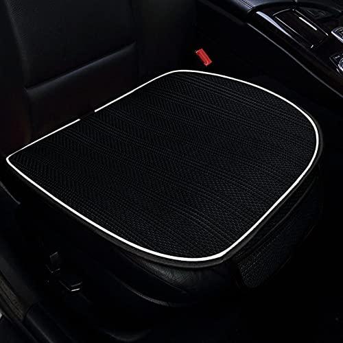 MONALA Asiento de coche Ice Silk Cool Pad asiento único transpirable antideslizante asiento de conducción cuatro estaciones universal asiento funda de cojín (negro)