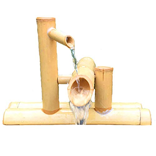 Bamboo Fountain Kit,Accents Water Feature Pump ,for Bird Bath, Fish Tank, Pond Or Garden Decoration,35cm