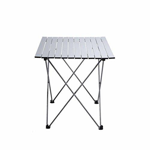 CSQ Tables pliantes et chaises, multifonctionnel en plein air Alliage pique-nique Alliage jardin Mahjong Table petit volume stable et durable Table de thé (taille : One table)