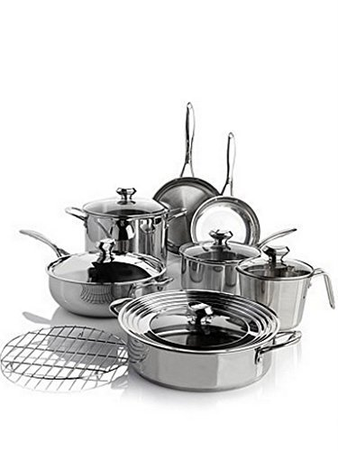 Wolfgang Puck Bistro Elite 13-piece Stainless Steel Cookware Set by Wolfgang Puck