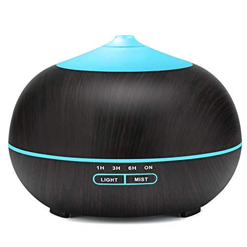400ml Aroma Diffuser Ultraschall Luftbefeuchter für zu Hause BPA-Frei und Wasserlose Automatische Abschaltung