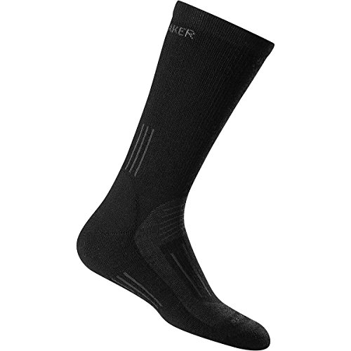 Icebreaker Damen Wandersocken Hike Medium Crew, schwarz (Black), M