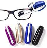 HHYSPA 4pcs Mini Cleaner Soft Eyeglasses Brush Eyeglasses Cleaner with All In One Portable Microfiber Spectacles Brush for Glasses Maintenance(A Set of Four