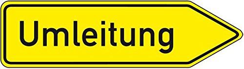 LEMAX® Verkehrszeichen Umleitung rechtsweisend,Nr.454-20,Aluminium RA0,refl.,1250x350mm