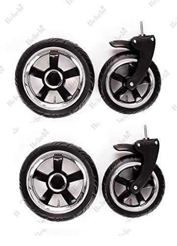 4 Stück Komplettsett Vorder und Hinter Kinderwagenrad Kinderwagen Räder/Räder passen nur für von uns verkaufte Wagen