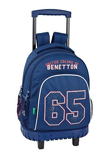 Benetton UCB Boy Oficial Mochila Escolar Grande Con Ruedas 320x140x460mm