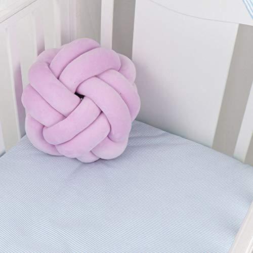 GSDJU Cojín con forma de nudo para sofá, cojín redondo, siesta, lumbar, abrazar, suave nudo de bolas, almohada de peluche, decoración del hogar, 27 cm