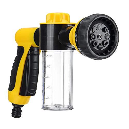 Hochdruckreiniger Spritzpistole & Lanze, Teile auf: Die Hochdruck-Auto-Spray-Reiniger-Schaum Schnee Wasser G Un Washer Reinigung 8 Einstellungen Gelb Perfekt für das Waschen von Haustieren