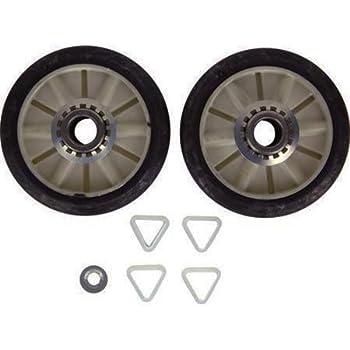 HQRP Dryer Drum Support Roller Kit for Kenmore 349241T 349241 ER349241T AH347627