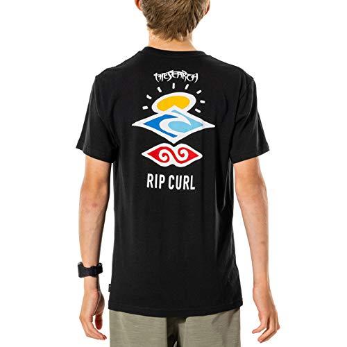 Rip Curl Search Essential Tee-Boy Boys Short Sleeve T-Shirt Age 16 Black