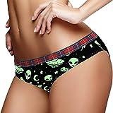 Calzoncillos de mujer de baja altura bragas ropa interior suave bragas S, verde Alien