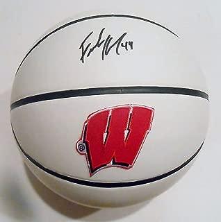 Frank Kaminsky Signed Wisconsin Badgers Logo Basketball w/JSA COA SD07629