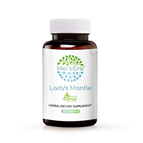 Lady's Mantle 60 Capsules, 500 mg, Organic Lady's Mantle (Alchemilla vulgaris) Dried Herb (60 Capsules)