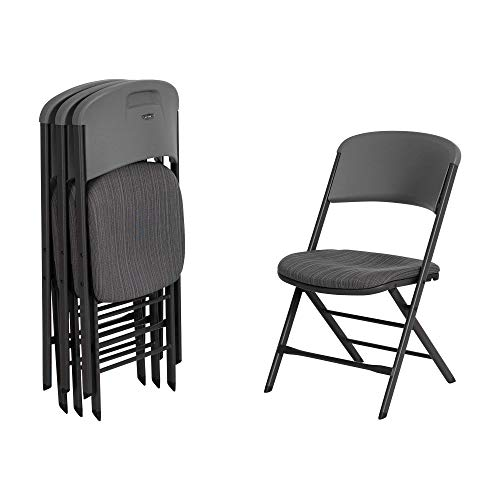 LIFETIME 480426 Commercial Grade Folding Chair (4 Pack), Urban Gray