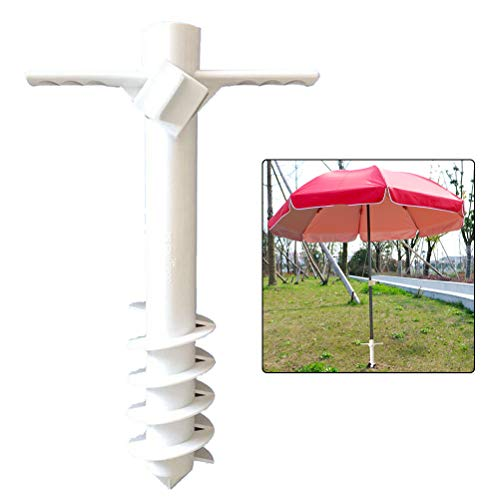 Knowoo Plastic Beach Umbrella Holder Grass Auger for Outdoor Beach Umbrella Holder