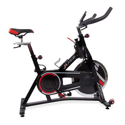 JK FITNESS Bicicletta Indoor Professional jk536, Adulti Unisex, Nero, 106X 50X 99/105cm
