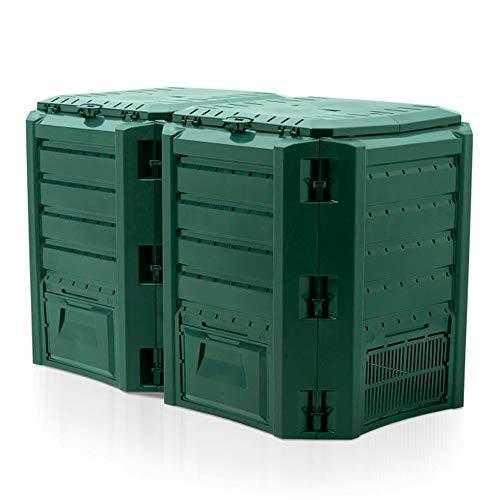 Prosperplast Compostador 800 L Compogreen Module de plástico en Color Verde, 82,6 (Alto) x 135 (Ancho) x 71,9 (Profundo) cms (IKSM800Z-G851)
