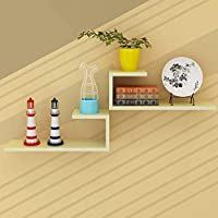 LXD ブックケース、本棚の木製のパネル素材の壁掛けリビングルームの壁棚モダンなミニマリストの装飾的なフレーム、9色,2